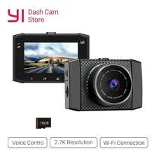 YI 울트라 대시 카메라 레코더 16G 카드 140 와이드 앵글 해상도 자동차 DVR 대시 캠 음성 제어 센서 2.7 인치 와이드 스크린