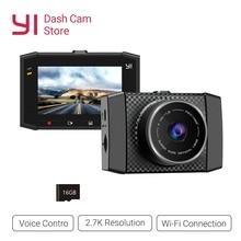 YI Ultra Dash Camera Recorder With 16G Card 140 Wide Angle Resolution Car DVR  Dash Cam Voice Control sensor 2.7 inch Widescreen