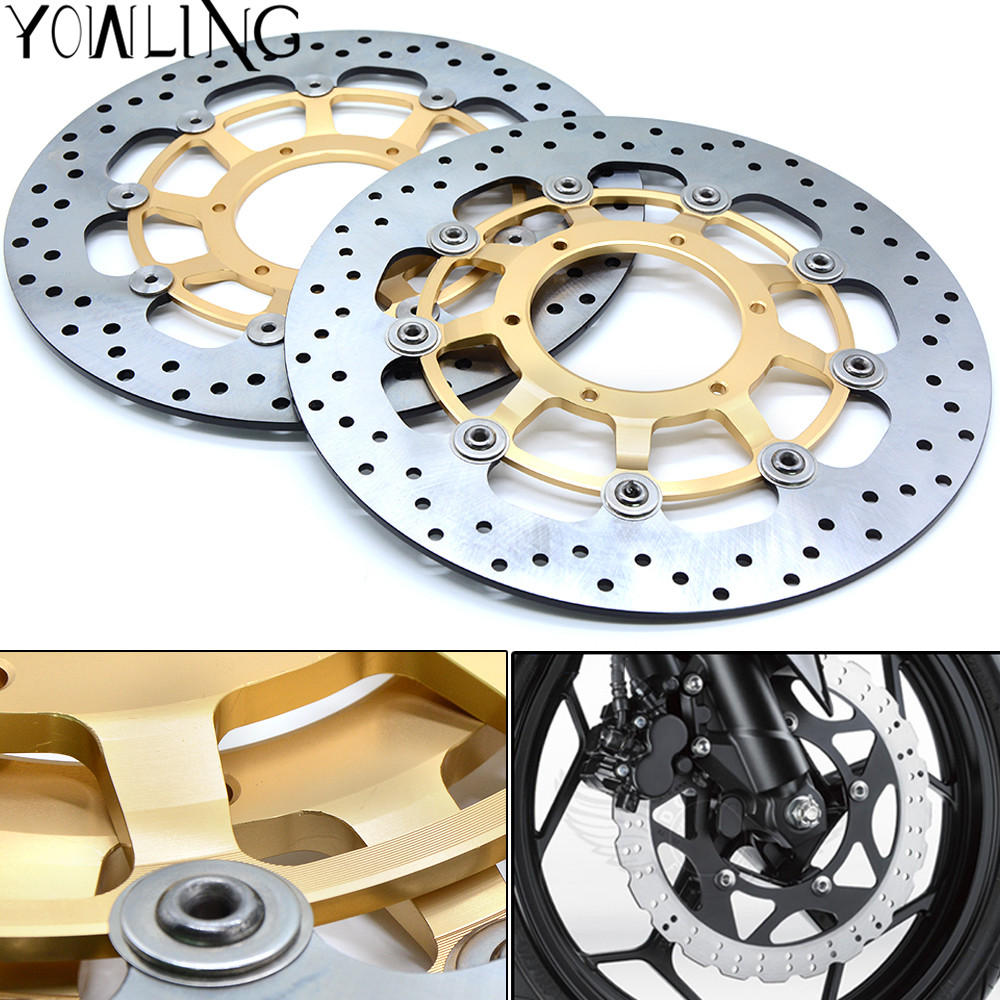 High quality Motorcycle Front Floating Brake Disc Rotor For Honda CBR600RR CBR 600 RR 2003 2004 2005 2006 2007 2008 2009-2014 one pair cnc high quality motorcycle front floating brake disc rotor for suzuki gsf1250 bandit abs non 2007 2008 2009 gsf1200 k6