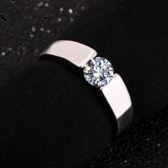 G4 Классический Обручальное Кольцо 18 К роуз покрытием Стрелки AAA CZ Diamond Любителей Кольца обещание для женщин людей бесплатная доставка