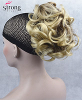 Short Ponytail Hair Piece Extension Wavy Claw Clip In On Hairpiece COLOUR CHOICES
