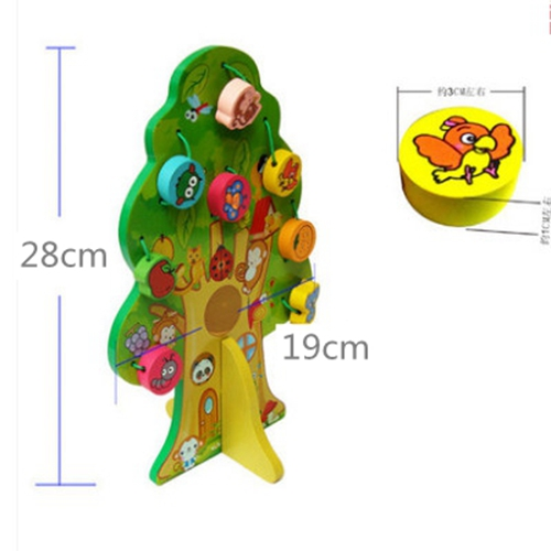 Купить с кэшбэком Animals and fruit trees wooden math toys for kids baby montessori educational toys learning toys brinquedos children preschool
