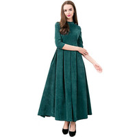 2018 Spring Elegant Women Dress Cotton Long Maxi Dresses Gowns Victorian Gothic Lo Vintage Long Sleeve Renaissance Dress Womens