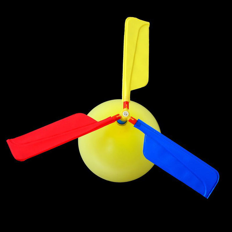 10Pcs Random Set Inflatable Helicopter Toys Flying With Whistle Children Outdoor Playing Creative Funny Toy Propeller Kid Toys