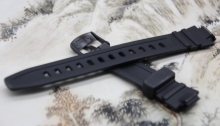 Original Watchband black silicone rubber bracelet for Casio AQ-180W/W-213 watches accessories