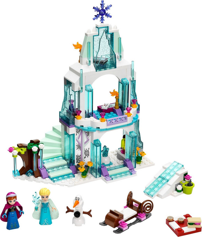 Frozen 316Pcs Elsa's Sparkling Ice Snow castle Anna Olaf Princess Brick Girl With Toy Model Building Blocks
