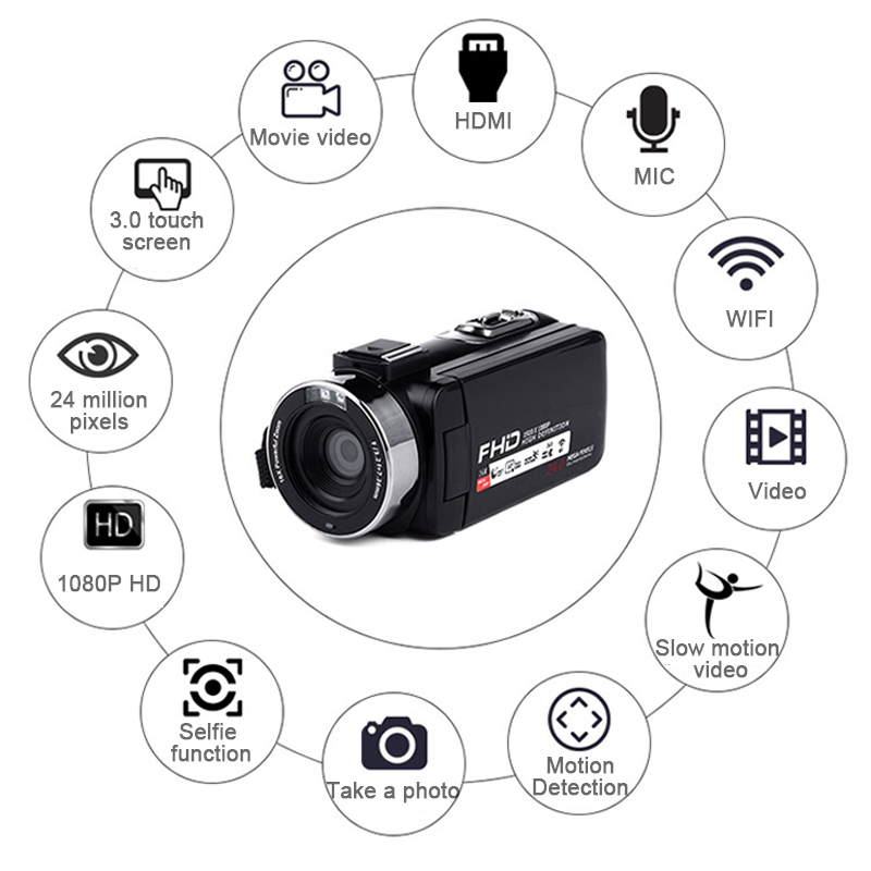 Digital Camera HD 8MP Real Pixels 16X Full HD 1080P Wifi Remote Control Support Infrared Night Vision CMOS Wedding Record DV цена 2017