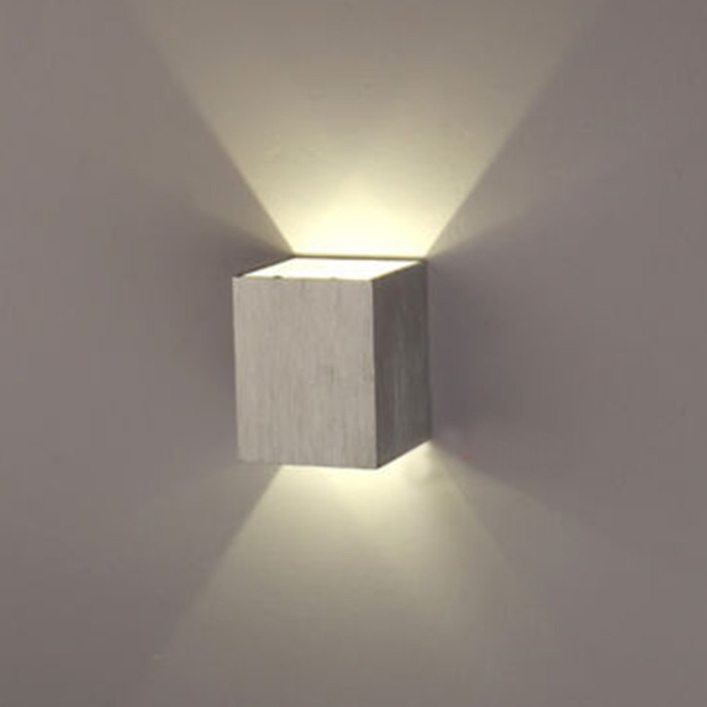 Kitop Hot Sale Modern 3W LED Square Wall Lamp Aluminum AC85 265V 110V 220V Lamps