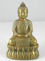 Tibetan Buddhism Brass Copper Sakyamuni Buddha Statue