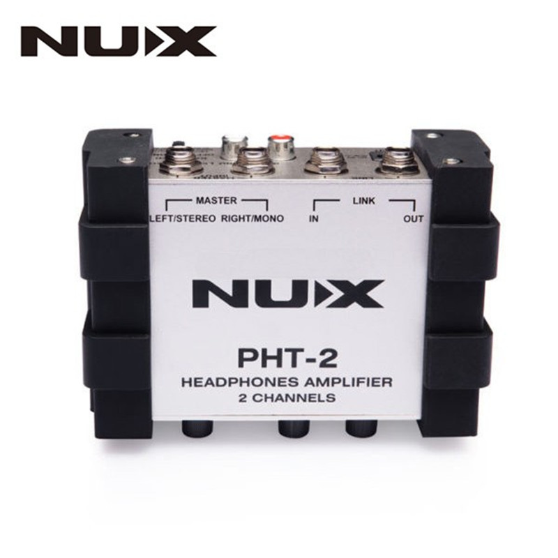 ФОТО NUX PHT-2 DC 9V Amplifier Versatile Portable Two-channel Stereo Headphone Preamp Master Volume Control Guitar Parts Accessories