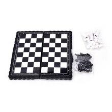 1 Набор = 32 шт античный складной магнитный пластиковый набор с шахматной доской с играми аксессуарами