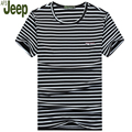 Summer Fine Stripe men T-shirt short sleeves O-neck casual Cotton T-shirt 2017 AFS JEEP Fashion new arrival t-shirt men 30