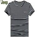 Verão fina faixa t-shirt dos homens de mangas curtas o pescoço t-shirt de algodão ocasional 2017 afs jeep t-shirt dos homens da forma nova da chegada 30