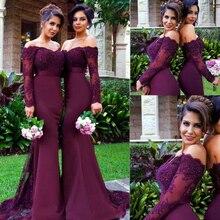 Custom Make Evening Gowns Dresses Floor Length Sweetheart Neckline Lace Appliques Mermaid Purple Prom Dress