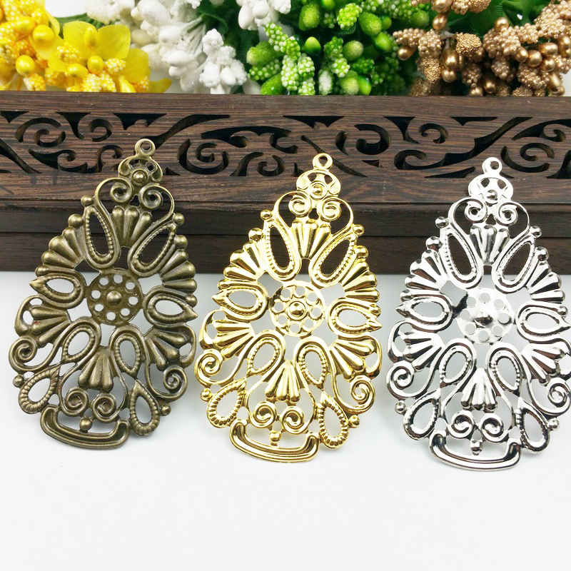 20pcs Filigree Drop Connectors  Wraps Metal Charms For Embellishment Scrapbook DIY Jewelry Metal Craft  Wraps