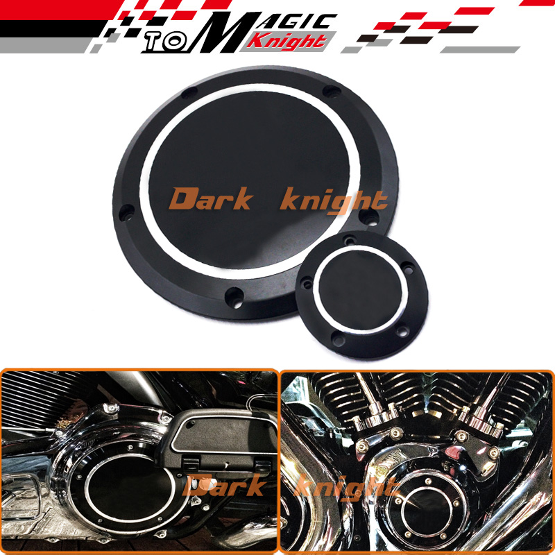 Freeshipping Hot sale Black Derby & Timing Timer Cover For Harley Road King Softail Dyna FLHRS FLTFB for harley road king softail dyna flhrs fltfb silver derby