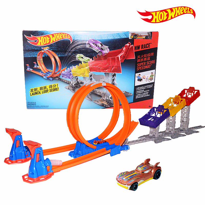 Hot Wheels Toys : Hot wheels limit jump track toy kids electric toys square