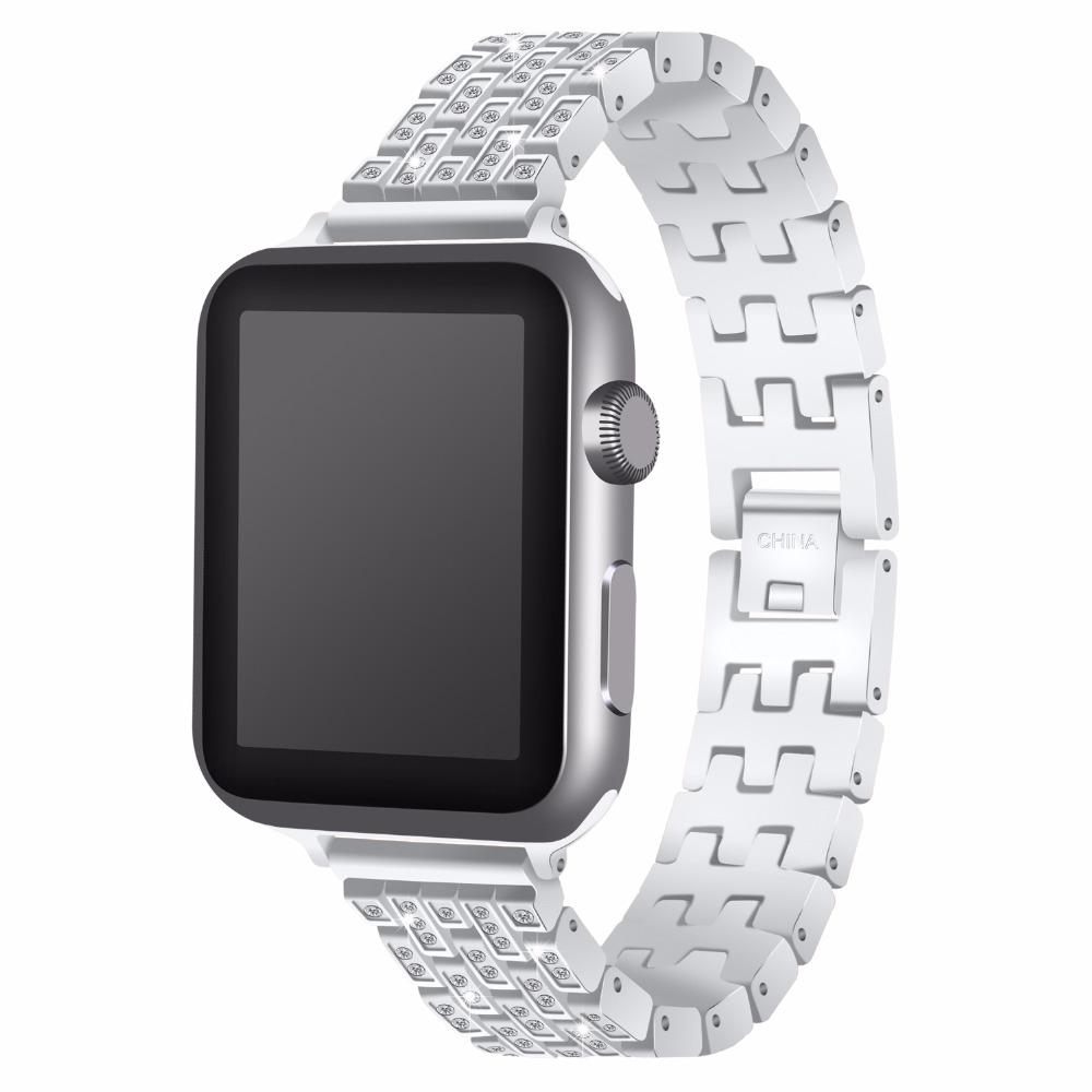 Joyozy Stainless Steel Watch band Strap for apple watch 42 mm 38 mm link bracelet Replacement Watchband for iwatch serise 1 2 3 in Watchbands from Watches