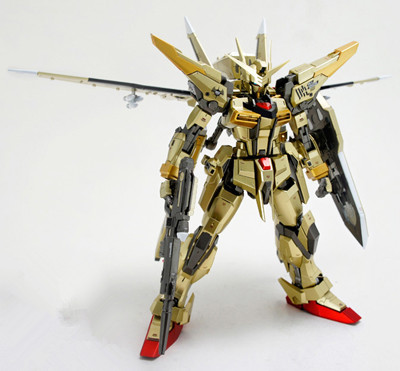 ФОТО In Stock Dragon Momoko Gundam Model MG 1/100 Akatsuki Double Weapons 2 Backpack Golden Plated Action Figure Assemble Toys Gift