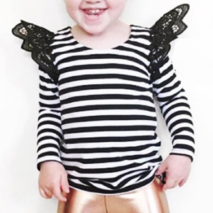 New Boutique Toddler Kids Baby Girls Ruffles Lace Tshirt Tops Tee Outfits Set Children Clothes Sunsuit Infant Newborn 0-4Y