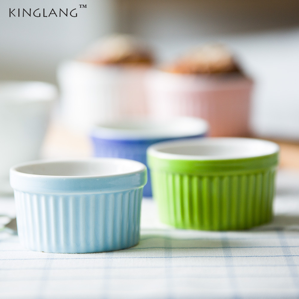 1pc Japanese Small Ceramic Souffle Pudding Bowl Baking Bowl Small Snack Bowl ...