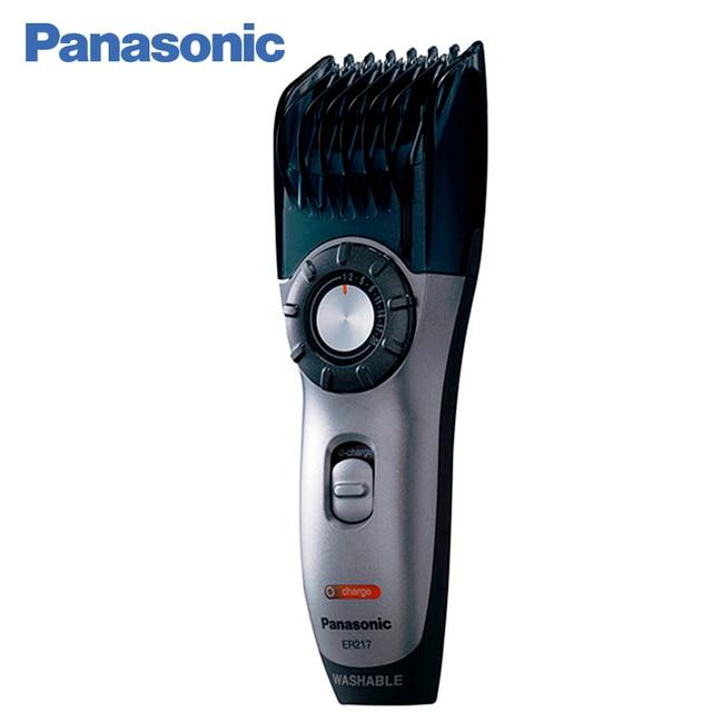Panasonic ER217S520 Машинка для стрижки волос, бороды и усов, работа от сети или аккумулятора, длина стрижки 0,5-20мм, возможность промывки водой, световой индикатор зарядки, работа от аккумулятора до 40 минут.