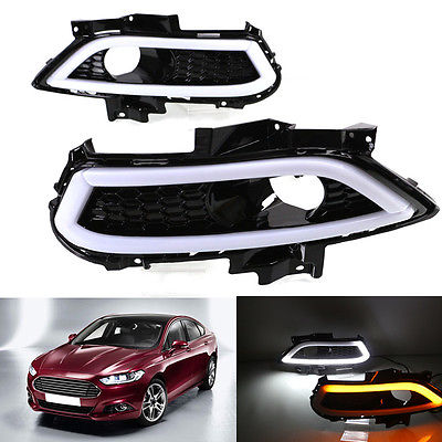 Daytime Running Lights DRL Turn Signals Free Shipping For Ford Fusion 2013-2016 for ford fusion 2013 16 guiding light daytime running lights drl turn signals 2x