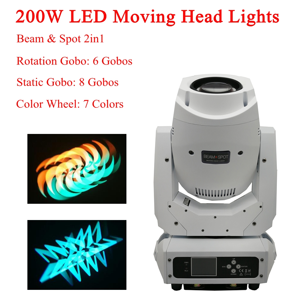 Us 418 7 21 Off New White Shell 200w Beam Spot 2in1 Led Moving Head Light Dj Spot Moving Head Light For Stage Theater Disco Nightclub Party In Stage