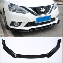 For NISSAN SENTRA Sylphy 2016-2019 ABS Front Bumper Diffuser Body Kit Lower Grille Protector Plate Lip Cover Trim Car Styling