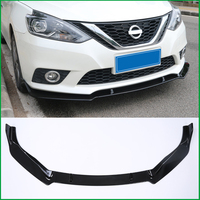 For NISSAN SENTRA Sylphy 2016 2019 ABS Front Bumper Diffuser Body Kit Lower Grille Protector Plate Lip Cover Trim Car Styling