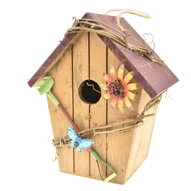 Vintage Outdoor Adee Bird House Nest Bed Hanging Wooden Cage Nesting Box Birdhouse
