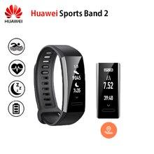 Оригинальный Huawei спортивные группы 2 умный Браслет Сплав swimmable 5ATM 0.91 «oled Экран Touchpad сердечного ритма Мониторы нажмите сообщение