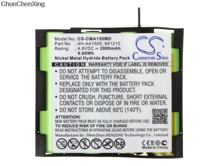 Cameron Sino Battery for Compex Edge US  Enegry  FIT  Mi  Mi ready US Runner SP 2.0  SP 4.0  Sport Elite  Vitality  voor Fit 1.0|Digital Batteries| |  - title=