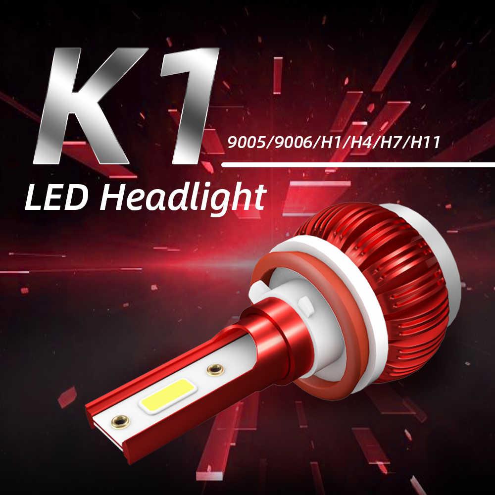 LSlight NEW Arrivals 6000K 8000LM LED H7 H11 H1 H9 9005 HB3 9006 HB4 HB2 H4 led Headlight Bulb Car Light 12V Ampoule Auto Lamps
