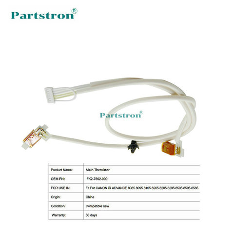 partstron 2 pecas principal themistor fk2 7692 000 para uso em canon adv 8085 8095