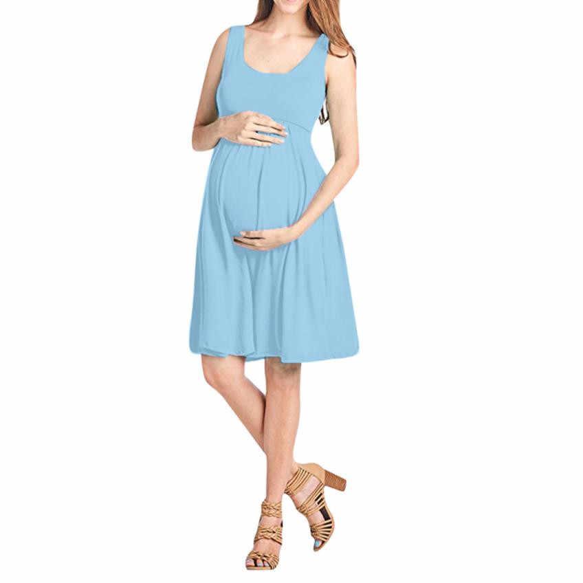 Women Nursing Maternity Short Mini Dresses Pregnant Baby Shower Gift Dresses Labor Delivery Hospital Gown Sleeveless Dresses