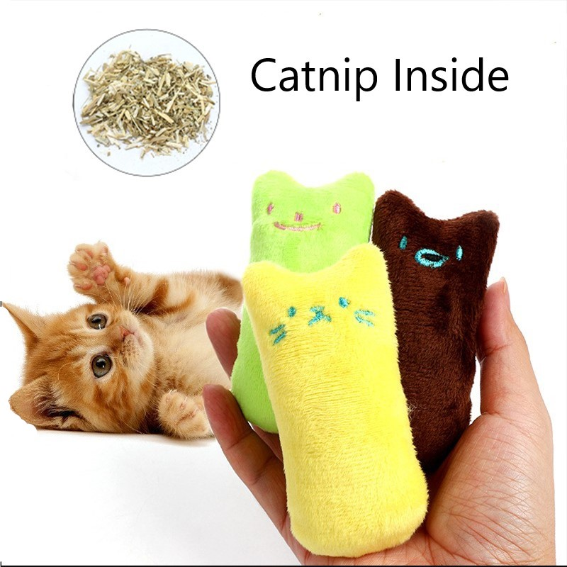 Teeth Grinding Catnip Toys Funny Interactive Plush Cat Toy Pet Kitten Chewing Toy  Claws Thumb Bite Cat Mint For Cats Cat Supply