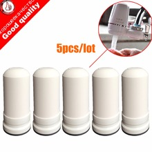 5 pçs/lote waterfilter cartuchos para kubichai torneira da cozinha montado purificador de água carvão ativado filtro de água