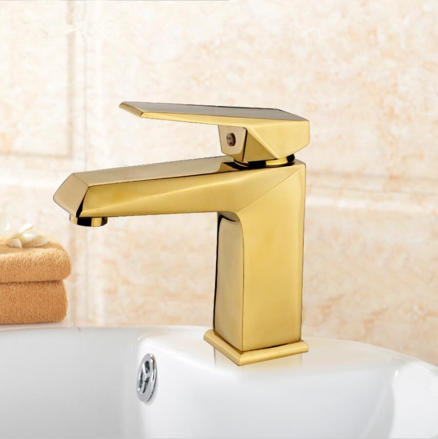 Livraison gratuite Euro or/or Rose bassin grue luxe salle de bain bassin robinet mitigeur lavabo mitigeur lavabo