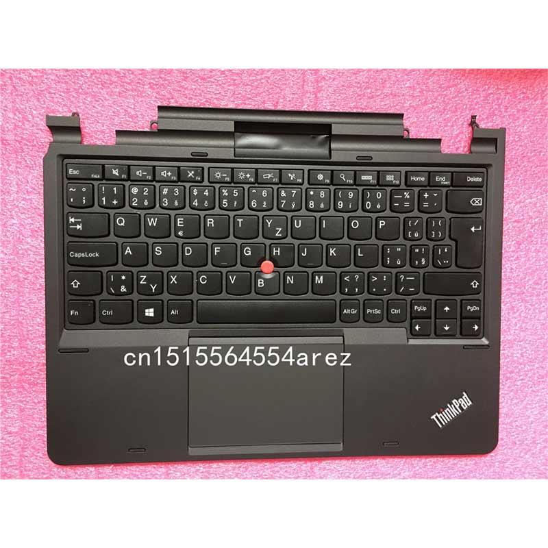 Nouveau clavier d'origine pour ordinateur portable Lenovo THINKPAD HELIX TYPE 3XXX Palmrest clavier tchèque arabe Thai touches 04X0631 04X0629 04X0656