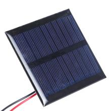 2pcs/pack DIY Solar Panels Efficient Solar Power Charger 5.5V 0.6W Polycrystalline Silicon Panel Charger with Cable