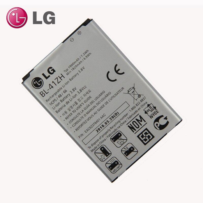 Nouvelle D'origine LG BL-41ZH batterie pour LG Leon L50 C40 MS345 D213N LS665 D290 D295 H340 H343 H345 1900 mAh