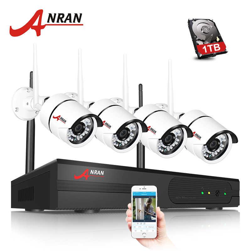 ANRAN HD CCTV 2.0MP 4CH Беспроводной NVR 36 ИК День Ночь Водонепроницаемый наблюдения 1080 P WIFI IP камеры комплект системы видеонаблюдения с HDD