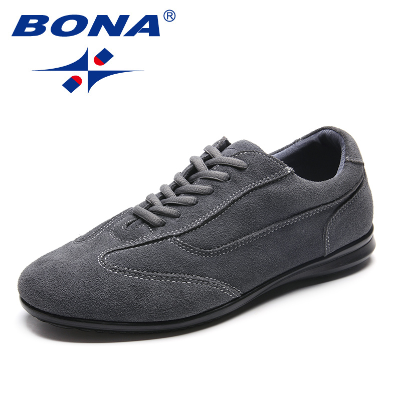 BONA New Fashion Style Men Casual Shoes Lace Up Men Loafers Suede Male Flats PU Outsole Men Shoes Comfortable Fast Free Shipping cbjsho brand men shoes 2017 new genuine leather moccasins comfortable men loafers luxury men s flats men casual shoes