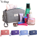 Canvas Toiletry Bag Men Cosmetic Wash Bag Women Cluth Makeup Bag Beauty Vanity Trolley Travel Beautician Washing Bag