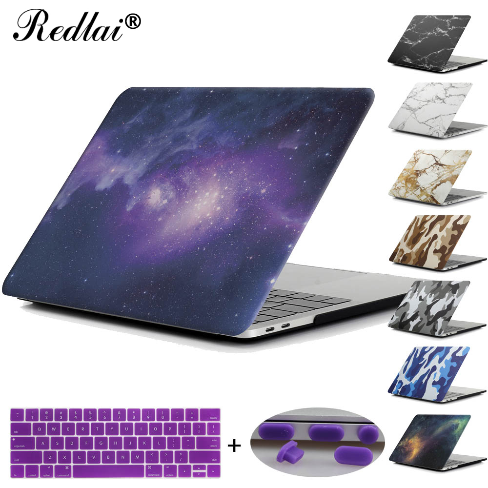 Redlai Starry Sky/Marble/Camouflage Hard Case Cover For Macbook Air Pro Retina 11 13 15 New Pro 13 15 Touchbar 2017 Laptop Case redlai plant floral print hard case for apple macbook pro retina 13 3 12 15 4 sleeve air 11 13 3 new pro 13 15 a1706 laptop case