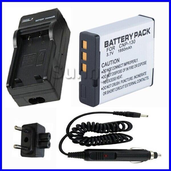 CARGADOR baterias para CASIO Exilim EX-ZR700 NP-130 EX-ZR100