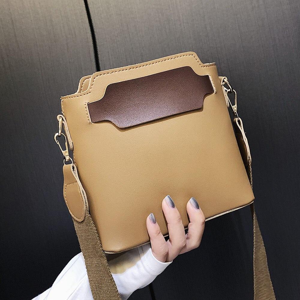 Spring Women PU Leather Bucket Bag Crossbody Messenger Bags Travel Bag
