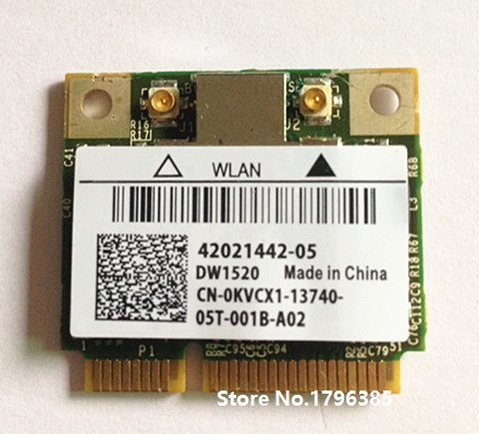 SSEA New Wholesale Wireless card for Broadcom BCM43224 BCM943224HMS 300Mbps 802.11a/b/g/n half Mini PCI-E card For DELL <font><b>DW1520</b></font> image