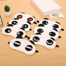 New 2pcs Cute Face White Panda Eye Mask Handmade Eyeshade Shading Sleep Cotton Goggles Eye Mask Sleep Mask Eye Cover Health Care